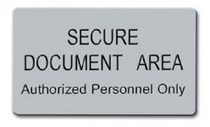 Secure Document Area